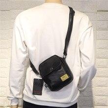 PU Small Hip Hop Men Shoulder Bag Casual Korean Minimalist Shoulder Bag Fashion Zipper Bolsos Para Hombre Crossbody Bag DE50NDJ