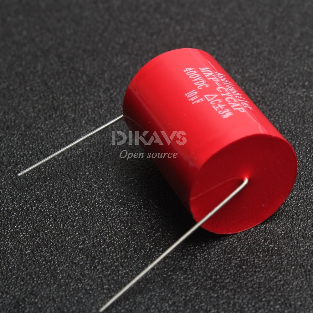 1Pcs Audiophiler Axial MKP 10UF 400V DC HIFI DIY Audio Grade Capacitor For Tube Guitar Amps