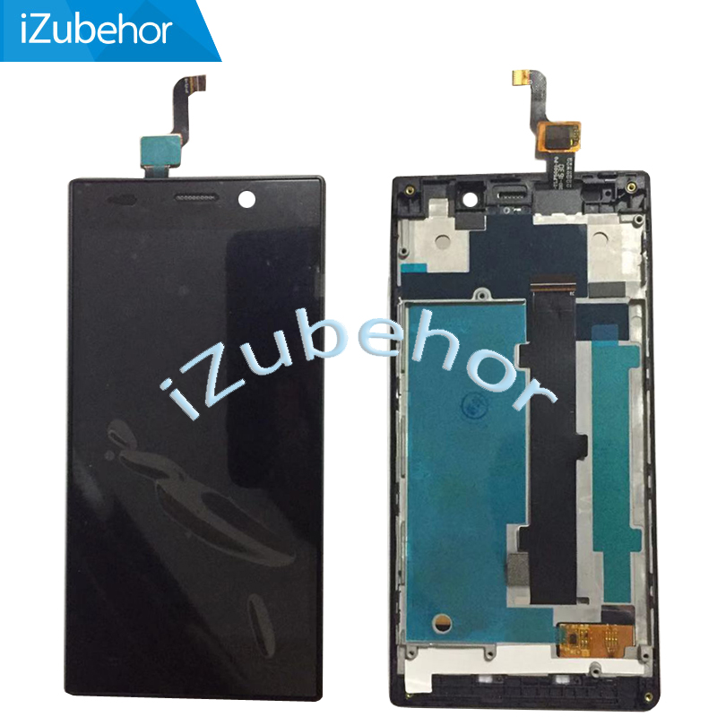 5.0'' 100% Warranty LCD For Philips Xenium V787 LCD Display + Touch Screen Digitizer + Frame Assembly Replacement Glass image