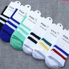 New High Quality Women Girls Casual Striped Candy Colors Cotton Comfortable Harajuku Short