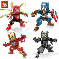 S Brand Sy1312 Avengers Mech Series Square Head Doll Toy Building Blocks Children'S Educational Small Particles Children Toy