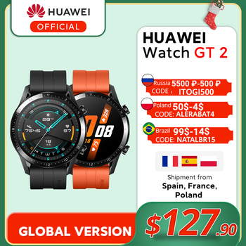 In Stock Global Version HUAWEI Watch GT 2 GT2 Smart Watch Blood Oxygen Smart Watch 14 Days With Call Function Heart Rate Tracker GT 2