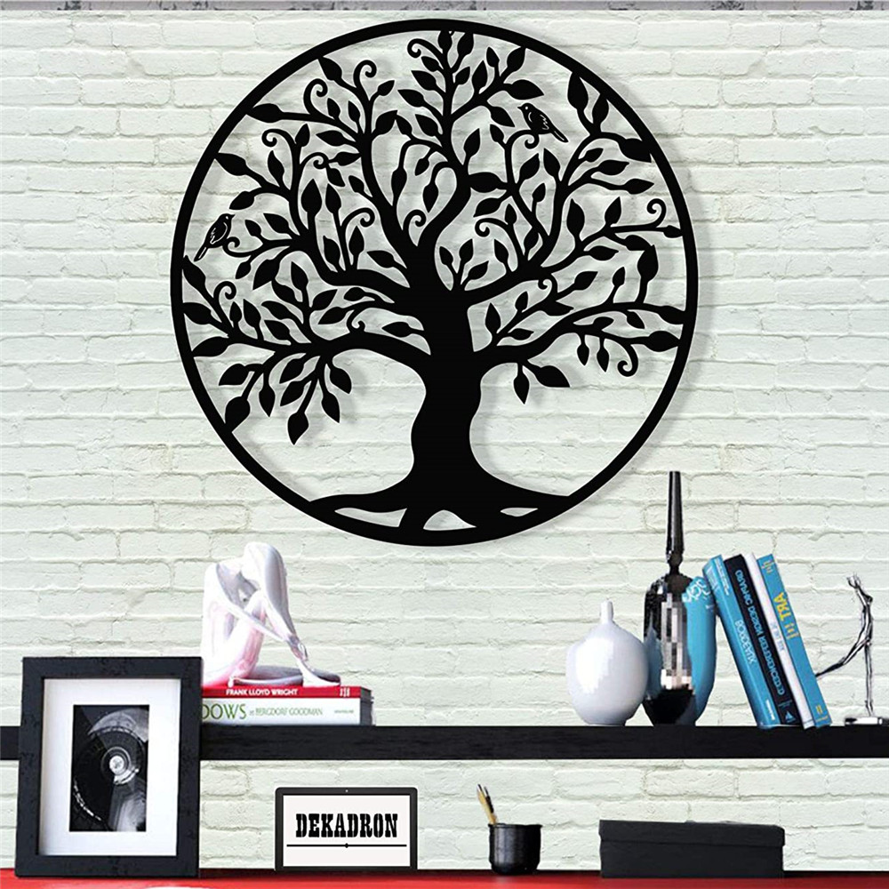 Tree Of Life Family Tree Acrylic Sign Wall Silhouette Wood Wall Decor Home Office Decoration Bedroom Living Room Decor Sculpture