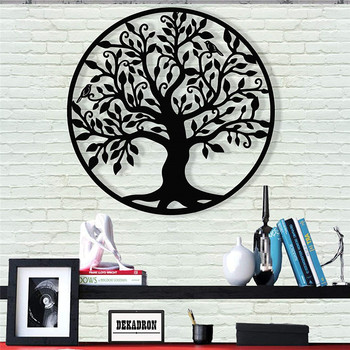 Tree of Life Family Tree Acrylic Sign Wall Silhouette Wood Wall Decor Home Office Decoration Bedroom Living Room Decor Sculpture tree wall decal sticker bedroom tree of life roots birds flying away home decor yoga studiodecor heart shaped branches a7 018