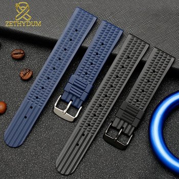 Silicone Rubber watch strap 20mm 22mm watchband for s-eiko SRP777J1 watch band Diving waterproof bracelet blue color 18mm 20mm 22mm watchband black rubber sport wrist men silicone military diving watch strap band for casio g shock accessories