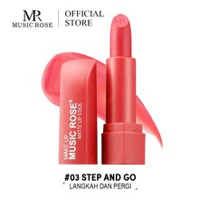 MUSIC ROSE Women lips China Red Lipstick Matte Long Lasting  Makeup Waterproof Gift for