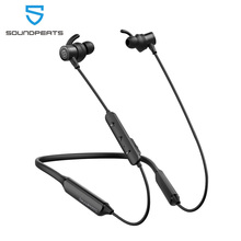 SoundPEATS Bluetooth Wireless Earphones Built in Mic Stereo Bass in Ear Magnetic Earbuds 35Hours Play time IPX6 Neckband Headset