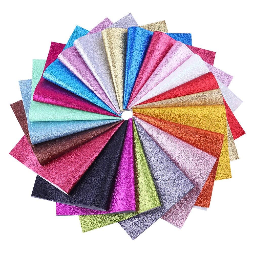 Rubio 20*34cm A4 fogli in ecopelle ecopelle grosso glitter designer tessuto carattere fogli in ecopelle tessuto fiocco per capelli