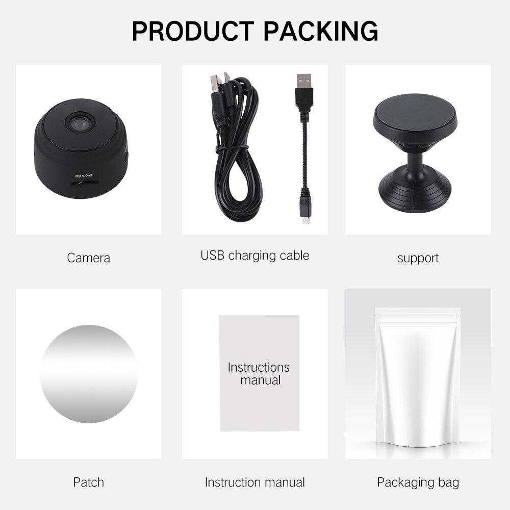 A9 1080P Wifi Mini Camera, Home Security P2P Camera WiFi, Night Vision Wireless Surveillance Camera, Remote Monitor Phone App 4