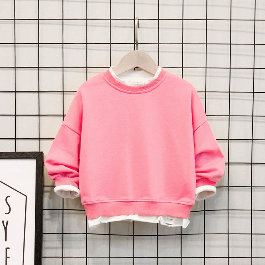 Cute Baby Sweater Solid Color Sweatshirt Baby Girls Kids Casual Style T-Shirt Clothes Blouse Sweatshirt Cardigan 2