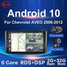 Polegada Android carro 10 9 2Din Rádio Do Carro Quad Core WIFI Bluetooth GPS Multimídia Para Chevrolet AVEO 2006-2012 Dual câmeras DVR SEM DVD
