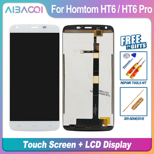 Image 3 - AiBaoQi nouveau Original 5.5 pouces écran tactile + 1280X720 écran LCD + cadre assemblage remplacement pour Homtom HT6/HT6 Pro Android 6.0