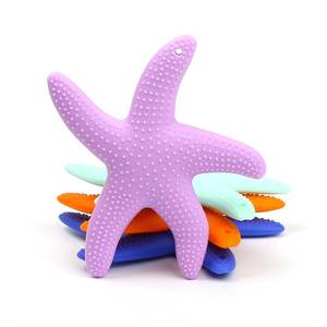 Silicone Starfish Baby Beads Tooth-Training-Toys Teething-Pendant Chewing Bpa-Free Dancing