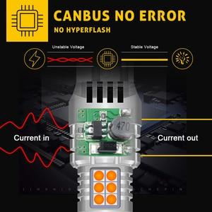 Image 3 - 2 pces carro 7440 led sem hyper flash âmbar amarelo laranja t20 w21w 1156 7507 bau15s p21w py21w lâmpadas led transformar luzes de sinalização canbus
