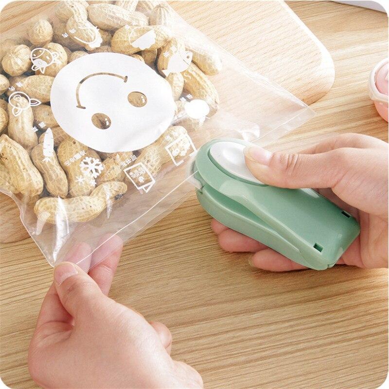 Snacks Seal Machine Small Mini Plastic-envelop Machine Packaging Household Plastic Bag Food Freshness Vacuum Seal Useful Product