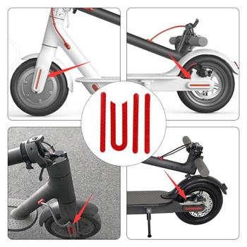 Front Rear Wheel Tyre Cover Protective Shell Red Reflective Sticker For Xiaomi M365 Electric Scooter Skateboard Parts image