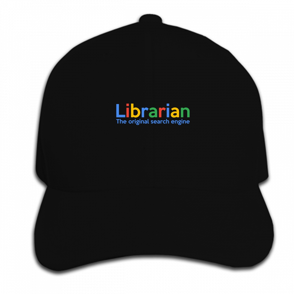 Print Custom Baseball Cap Librarian The Original Search Engine Funny Library Over Style Styles Print Male Brand Hat Peaked cap image