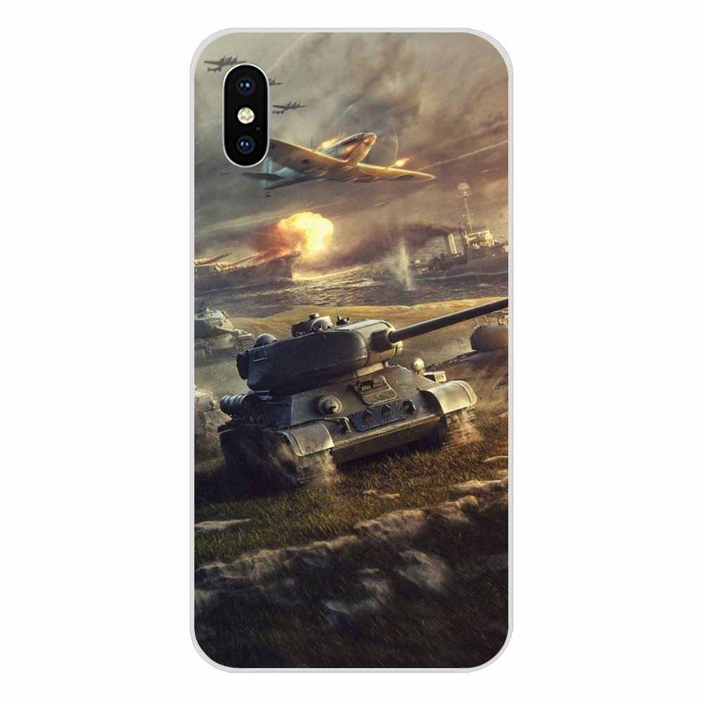 New World Of Tanks Smartphone Phone Transparent Cases For Xiaomi Redmi Mi 4 7A 9T K20 CC9 CC9e Note 7 9 Y3 SE Pro Prime Go Play
