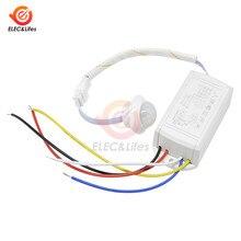 PIR podczerwieni ruch ciała wykrywania czujnika LED automatyczny przełącznik światła 110V 220V Mini szafa czujnik PIR Smart-domowy przełącznik