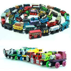 EDWONE DIY Wooden Railway Magnetic Train Wood Tender Car Accessories Toy For Kids Fit