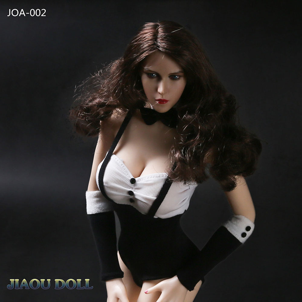 JIAOU JOLL 1//6 JOA-52 Puffed Sleeve Pleated Top Clothes Fit 12/'/' Female PH Body
