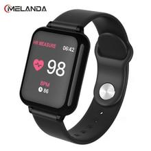 B57 الذكية الساعات للماء الرياضية ل iphone الهاتف Smartwatch مراقب معدل ضربات القلب ضغط الدم وظائف للنساء الرجال طفل