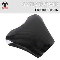 Motorcycle Black Carbon Fiber Oil Fuel Gas Tank Guard Cover Protection For HONDA CBR600RR cbr 600rr 2003 2006 2004 2005
