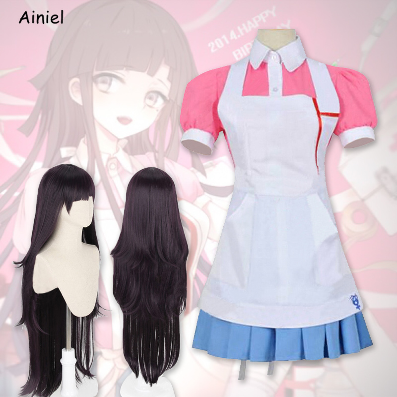 Ainiel Unisex Cosplay Costume Dress Full Set with Wigs