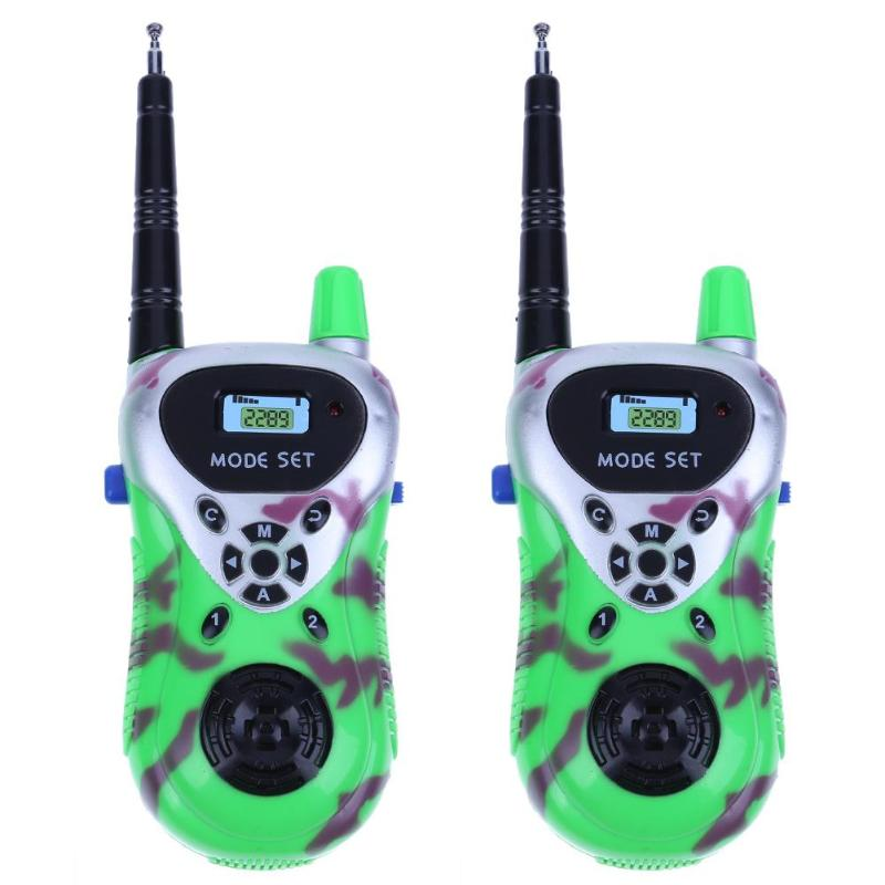 2pcs/set Plastic Mini Wireless Walkie Talkie Parents Kids Interactive Educational Toys Children Handheld Phone Intercom Toy Gift