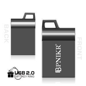 USB флеш-накопитель 16 ГБ 32 ГБ флеш-накопитель 64 ГБ 128 Гб супер мини Usb флешка карта памяти Usb 2,0 металлический черный Флешка Бесплатный Пользова...