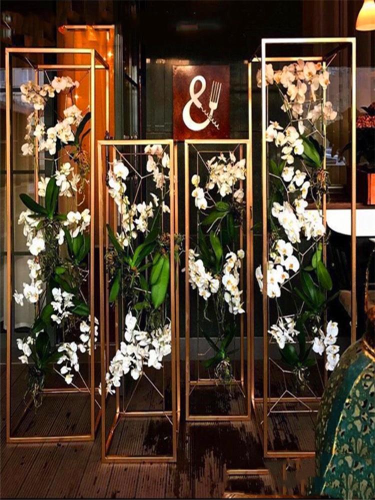 5PCS Flower Vases Wedding props Column Stand Metal Road Lead Christmas decoration Table Centerpiece Party Home decorat