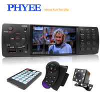 4 Auto Radio Car Stereo 1 Din Bluetooth Autoradio MP5 HD Video Player MP3 USB TF Aux Remotes In dash Head Unit PHYEE VX 4202ABT