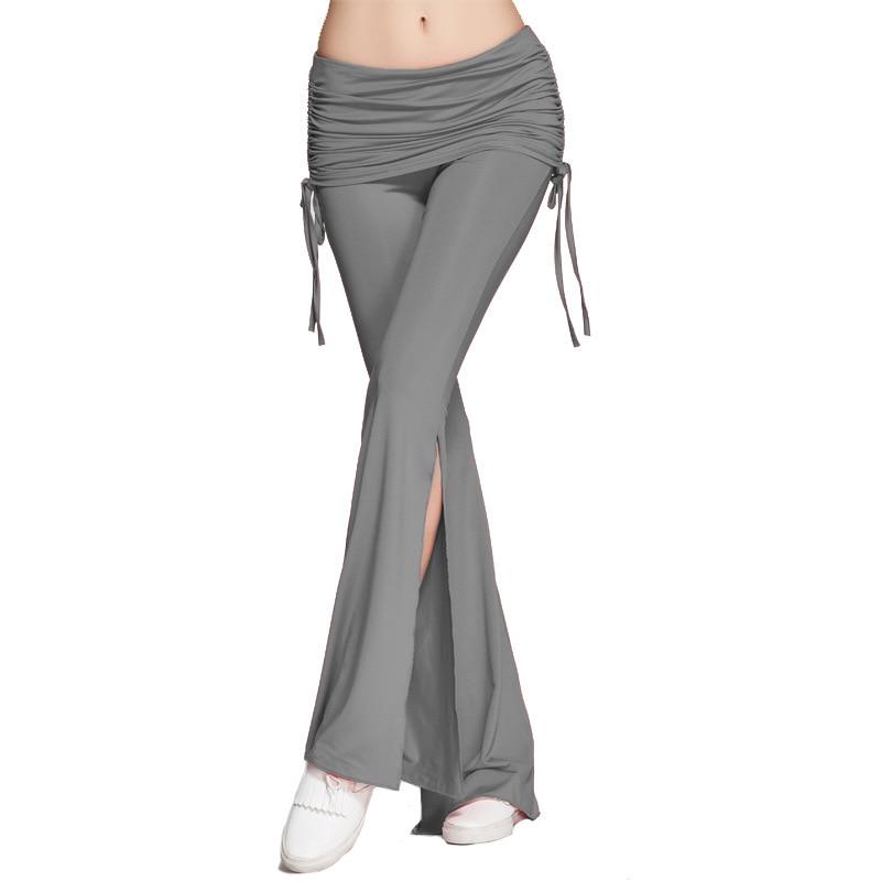 2020 New Women's Multicolor Patchwork Fashion Mid-rise Elastic Pants Split Fashion Women's Trousers