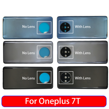 10Pcs/Lot,Back Battery Door Rear Housing Cover Case For Oneplus 7T Pro With Camera Glass Lens