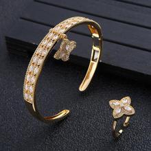 Jewelry-Sets Modernos Bangle Crystal Wedding-Zircon Dubai Bridal Luxury Women for CZ