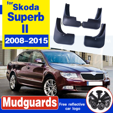 цена на Set Molded Car Mud Flaps For Skoda Superb II 2008-2015 Mudflaps Splash Guards Mud Flap Mudguards Fender Front Rear Styling
