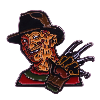 Wes Craven nightmare Horror Movies glove claw pin Creepy deadly dream crasher brooch image