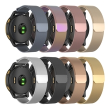 JKER Stainless Steel Metal Loop Magnetic Watchband for Garmin Venu Watch Wrist Band Strap For Vivoactive 4S 4