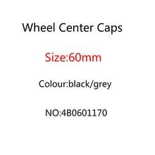 20 stücke 60mm grau schwarz Auto Rad Center Caps Hub Felge abdeckungen abzeichen für A3 A4 A5 A7 A8 q3 Q5 Q7 TT S3 S4 8P 4B0601170