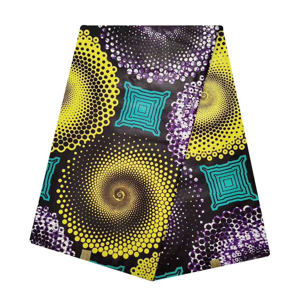 african fabric Wax Print Fabric Cotton Wax Pange Ankara Java Materials for Sewing 6 Yards Ghana Nigerian Wax Tissue