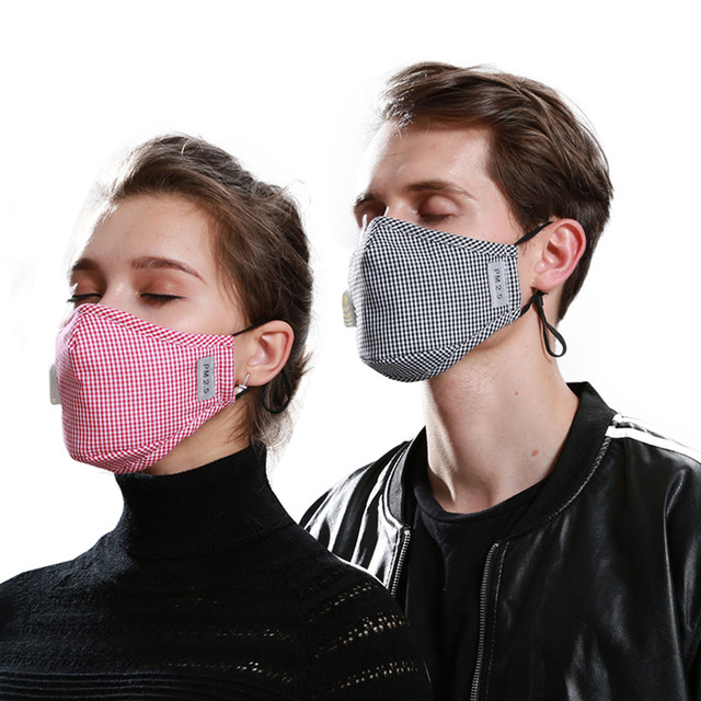 1Pcs Black PM 2.5 Mouth Mask Anti Dust Mask Fashion Cotton Windproof Mouth-muffle Proof Flu Face Masks Care Reusable 3