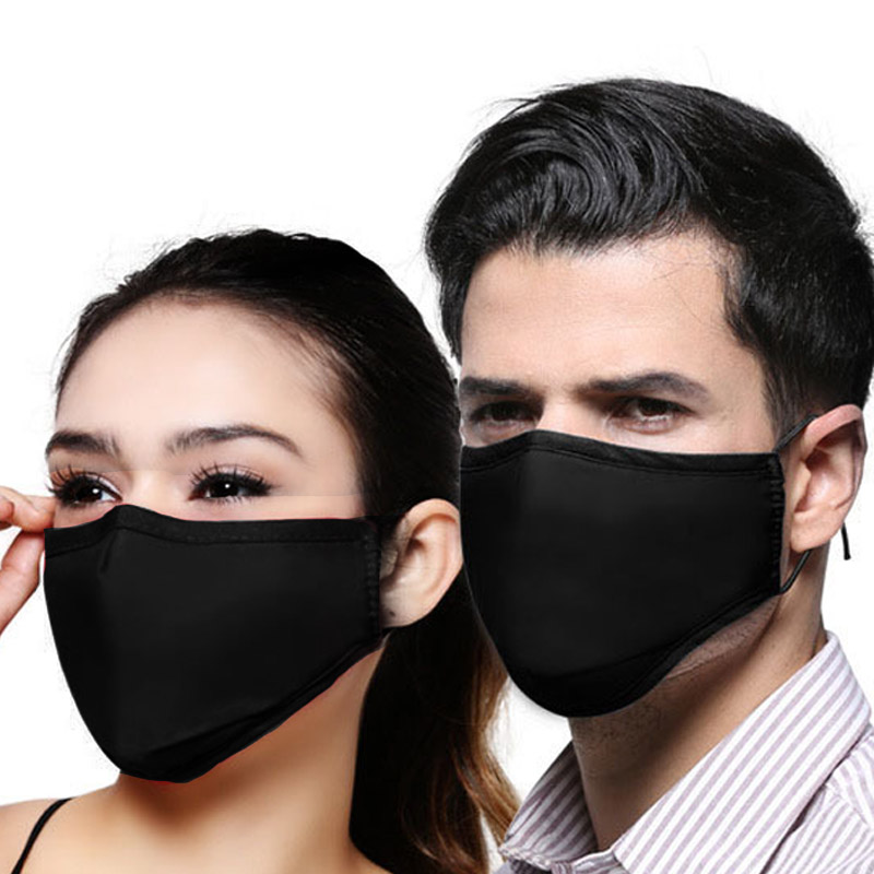 PM2.5 Mouth Mask 5 Layers Filters Protection Face Mask Cover Respirator Masks + Filter Activated Carbon Mouth-muffle
