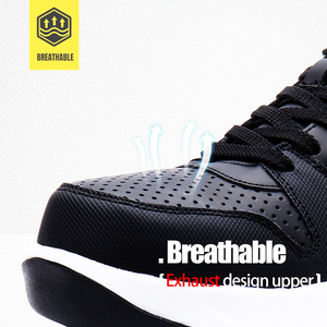 Image 4 - MODYF Men Safety Shoes Steel Toe Work Shoes Flats Casual Protective Footwear Sneaker