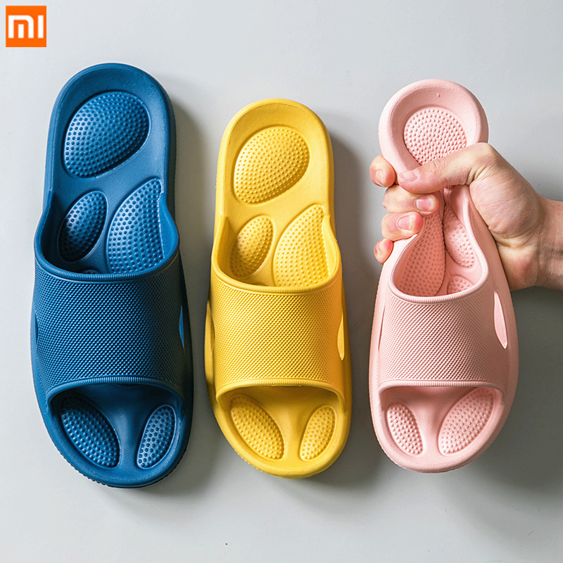 Xiaomi Women s Home Massage Slippers Female Summer Slides Indoor Bathroom Non-slip Flip Flop Sandals Men Soft Sole Soft Shoes