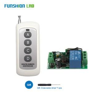 Image 2 - Interruptor de Control remoto inalámbrico Universal, 433Mhz, CA 110V 220V, 1 CH, módulo receptor por relé con transmisor remoto RF Led de 6 canales