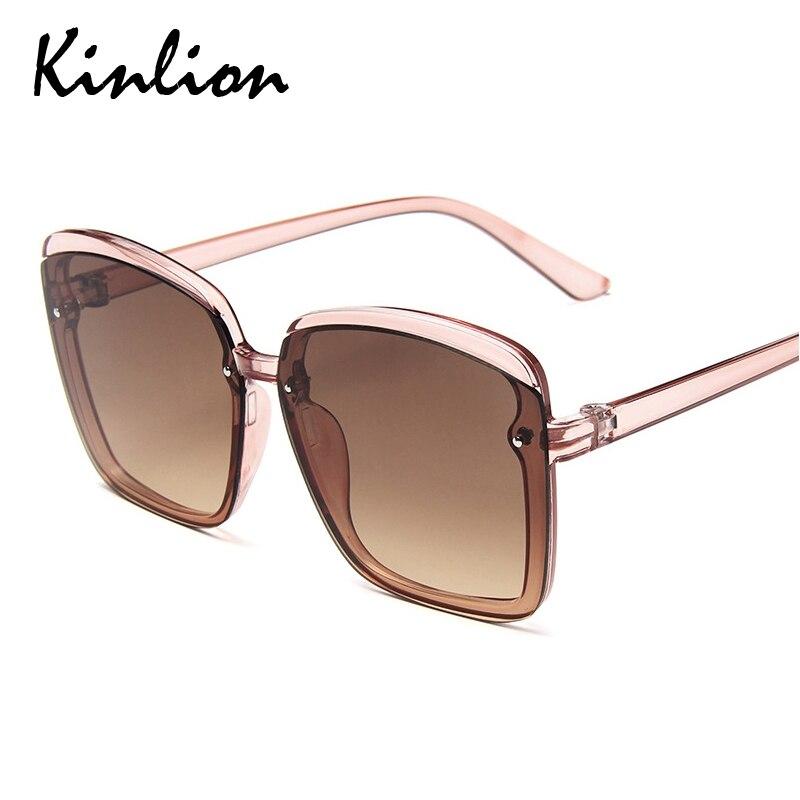 Kinlion Vintage Oversized Women Sunglasses Mens Eyewear Big Frame Sunglass Goggle Ladies Female Oculos Gafas De Sol Sun Glasses