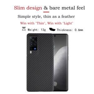 Image 2 - Ytf Carbon Carbon Fiber Telefoon Case Voor Vivo X60 Pro 5G Aramid Fiber Ultra Dunne Anti vallen Business Cover X60 Pro Shell