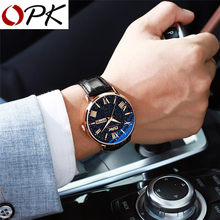 OPK Men Watch Fashion Star dial Quartz Watch Simple Watch Luxury Waterproof Business Wristwatch light cozy Lover For Men Watch(China)