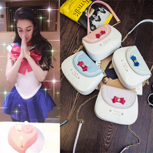 Sailor Moon Shoulder Bags Cosplay prop summer female bag with bow Woman bags