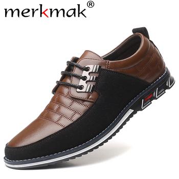 Merkmak jesień prawdziwej skóry męskie obuwie oddychające sznurowane oksfordzie sukienka biznes formalne wesele buty w dużych rozmiarach tanie i dobre opinie Skóra bydlęca RUBBER Płótno Dla dorosłych leather Pasuje prawda na wymiar weź swój normalny rozmiar Oddychająca